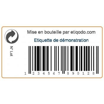 Modèle d'étiquettes adhésives personnalisées avec code barre EAN13